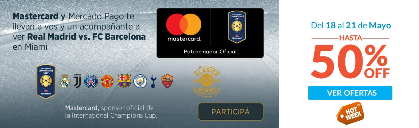 Mastercard y Mercado Pago te llevan a vos y a un acompañante a ver Real Madrid vs. FC Barcelona en Miami